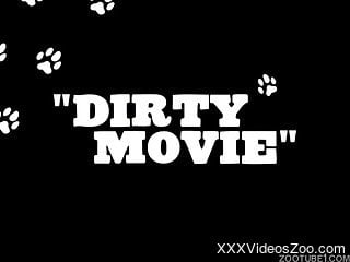 Dirty fuck scene featuring with a dog and its slutty owner