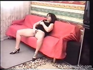 Chubby zoophile babe fucks a dog before fucking her hubby